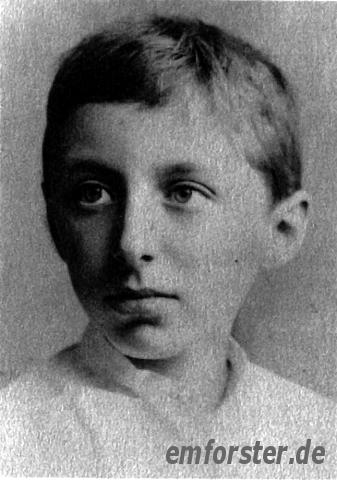 The photograph shows Forster 1890, at the age of eleven.Source: King's College, Cambridge. Ref. EMF/27/24